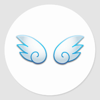 Kawaii wings round sticker