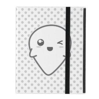 Kawaii Winking Ghost iPad Case