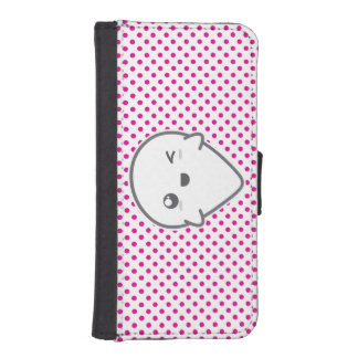 Kawaii Winking Ghost iPhone Wallet Case