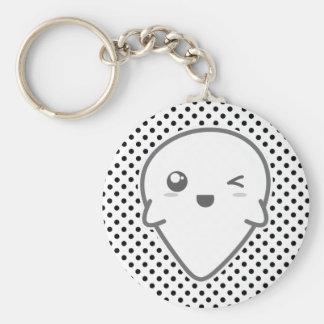Kawaii Winking Ghost Keychain