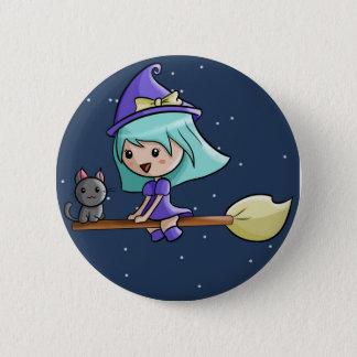 Kawaii Witch Badge