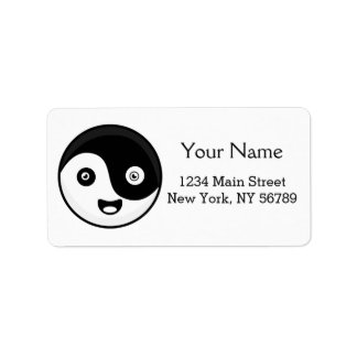Kawaii Yin Yang Address Label