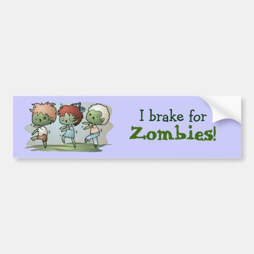 Kawaii Zombies Bumper Sticker