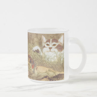 kawanabe Kyosai and Monster cat Frosted Glass Mug