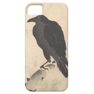 Kawanabe Kyosai Crow Resting on Wood Trunk Art iPhone 5 Covers