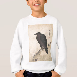 Kawanabe Kyosai Crow Resting on Wood Trunk Art Sweatshirt