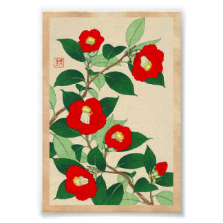Kawarazaki Shodo Floral Calander of Japan flowers Poster