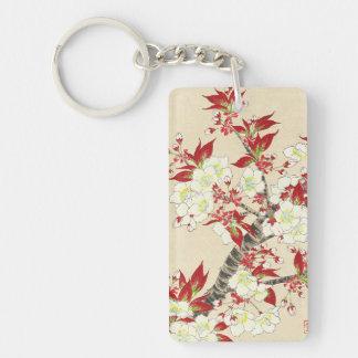Kawarazaki Shodo Floral Calendar of Japan Double-Sided Rectangular Acrylic Key Ring