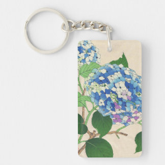 Kawarazaki Shodo Floral Calendar of Japan flower Double-Sided Rectangular Acrylic Key Ring