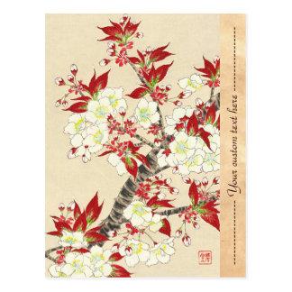 Kawarazaki Shodo Floral Calendar of Japan Postcard