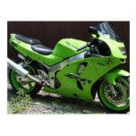 Kawasaki Green Ninja ZX-6R Motocycle, Street Bike