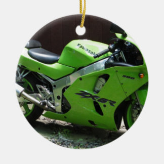 Kawasaki Green Ninja ZX-6R Motocycle, Street Bike Ceramic Ornament