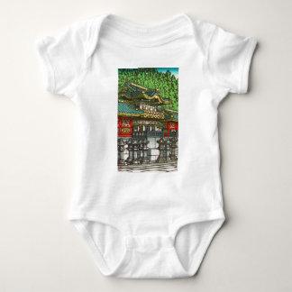 Kawase Hasui 川瀬 巴水: Toshogu Shrine in Nikko Baby Bodysuit