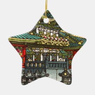Kawase Hasui 川瀬 巴水: Toshogu Shrine in Nikko Ceramic Star Decoration