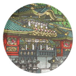 Kawase Hasui 川瀬 巴水: Toshogu Shrine in Nikko Plate