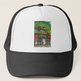 Kawase Hasui 川瀬 巴水: Toshogu Shrine in Nikko Trucker Hat