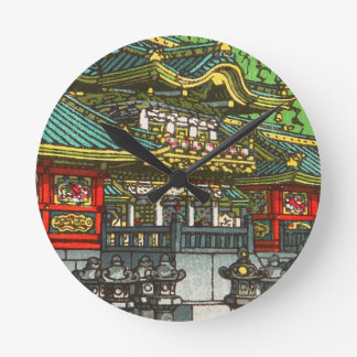 Kawase Hasui 川瀬 巴水: Toshogu Shrine in Nikko Wallclocks