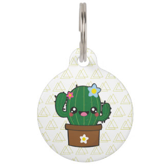 kawii cactus dogtagart pet ID tag