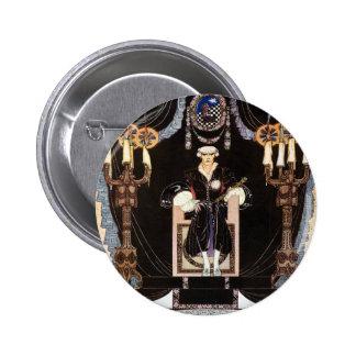 Kay NIelsen's Dark Nordic Prince 6 Cm Round Badge