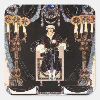 Kay NIelsen's Dark Nordic Prince Square Sticker