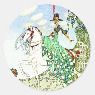 Kay Nielsen's Fairy Tale Princess Minotte Classic Round Sticker