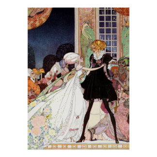 Kay Nielsen's Prince Charming and Cinderella Poster