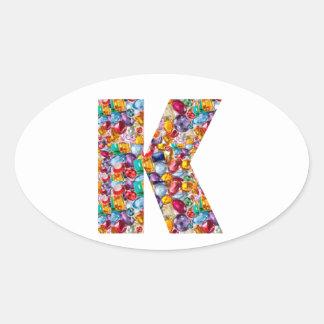 KAY  Sparkle Jewels n Gems IDEAL Alpha GIFT Oval Sticker