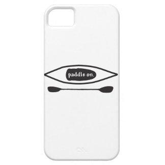 Kayak and paddle, simple black line art design iPhone 5 case