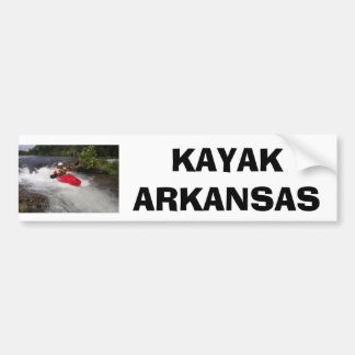 Kayak Arkansas Bumper Sticker