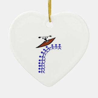 Kayak Bond Ceramic Ornament