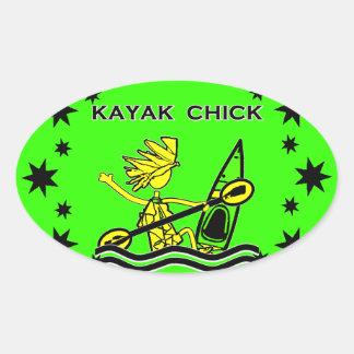 Kayak Chick Designs & Things Sticker