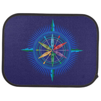 Kayak Compass Rose Car Mat