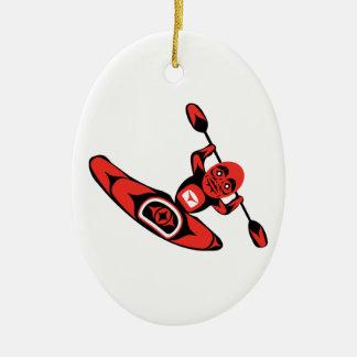 Kayak Country Ceramic Ornament