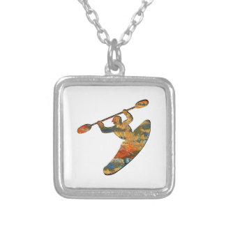 Kayak Country Silver Plated Necklace