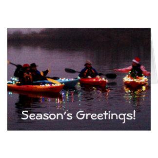 Kayak Flotilla of Lights! Card