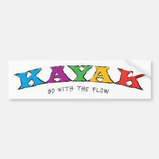 Kayak... Go With The Flow Sticker