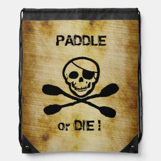 Kayak Jolly Roger Pirate Back Pack Drawstring Bag