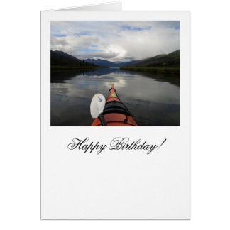 Kayak Journey; Happy Birthday Card