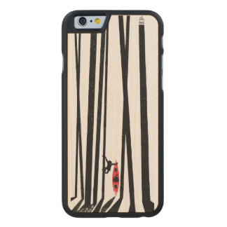 Kayak, monkey, forest carved maple iPhone 6 case