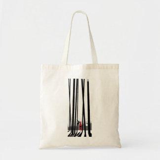 Kayak, monkey, forest tote bag