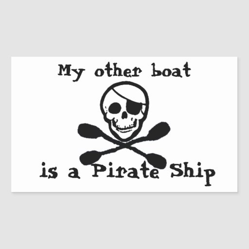 Kayak Pirate Ship Sticker