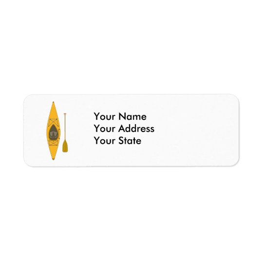 kayak return address label