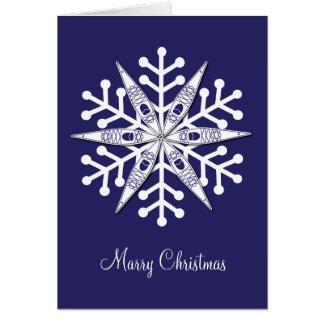 Kayak Snowflake Card