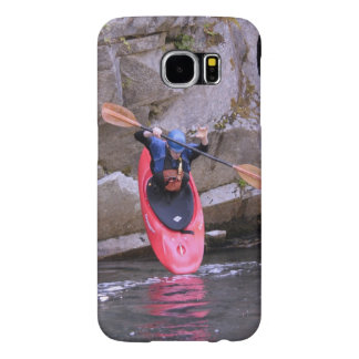 Kayaker entering the river samsung galaxy s6 cases