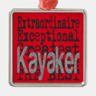 Kayaker Extraordinaire Metal Ornament