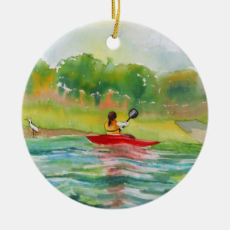Kayaker on Water Ornament