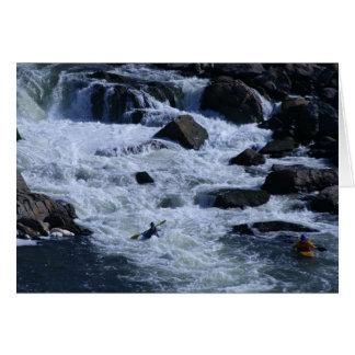 Kayakers in rapids card