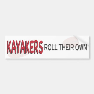 Kayakers Roll Bumper Sticker