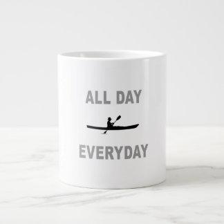 Kayaking All Day Everyday Large Coffee Mug