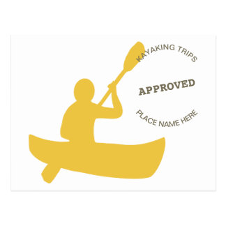 Kayaking Approved Postcard